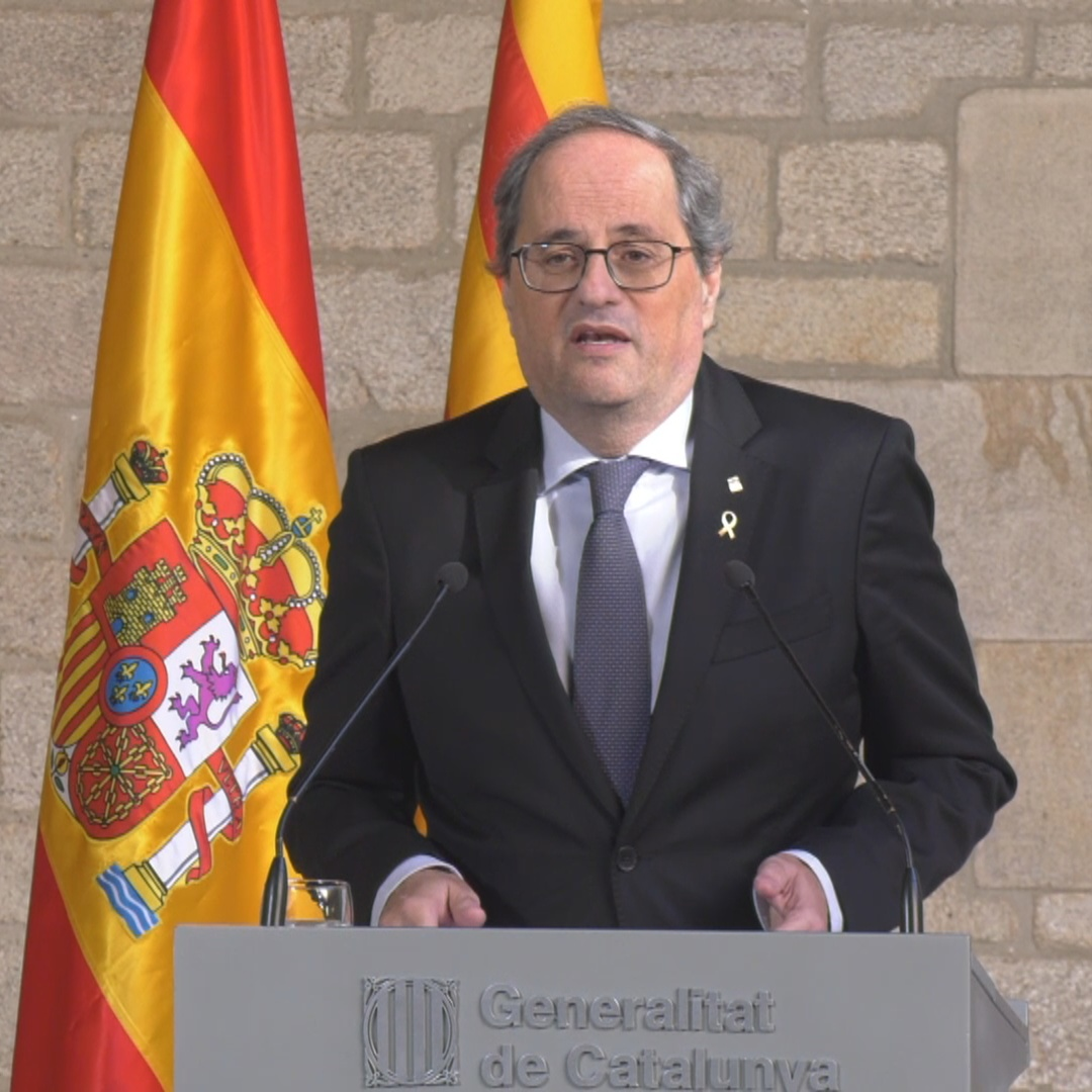 Quim Torra hopes today's meeting leads to 'real solutions to the political conflict'