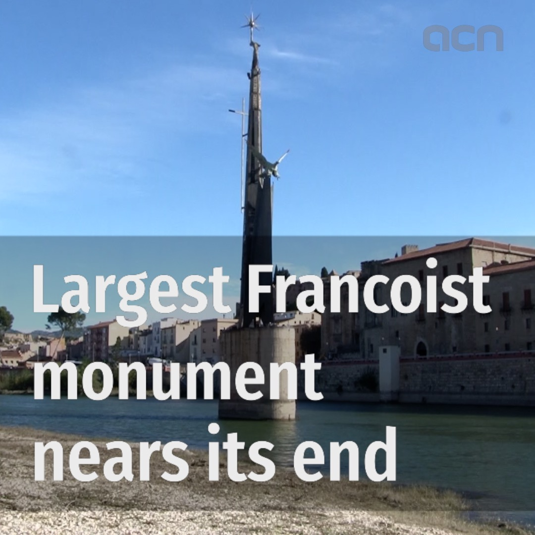 Francoist monument in Tortosa to be removed next summer
