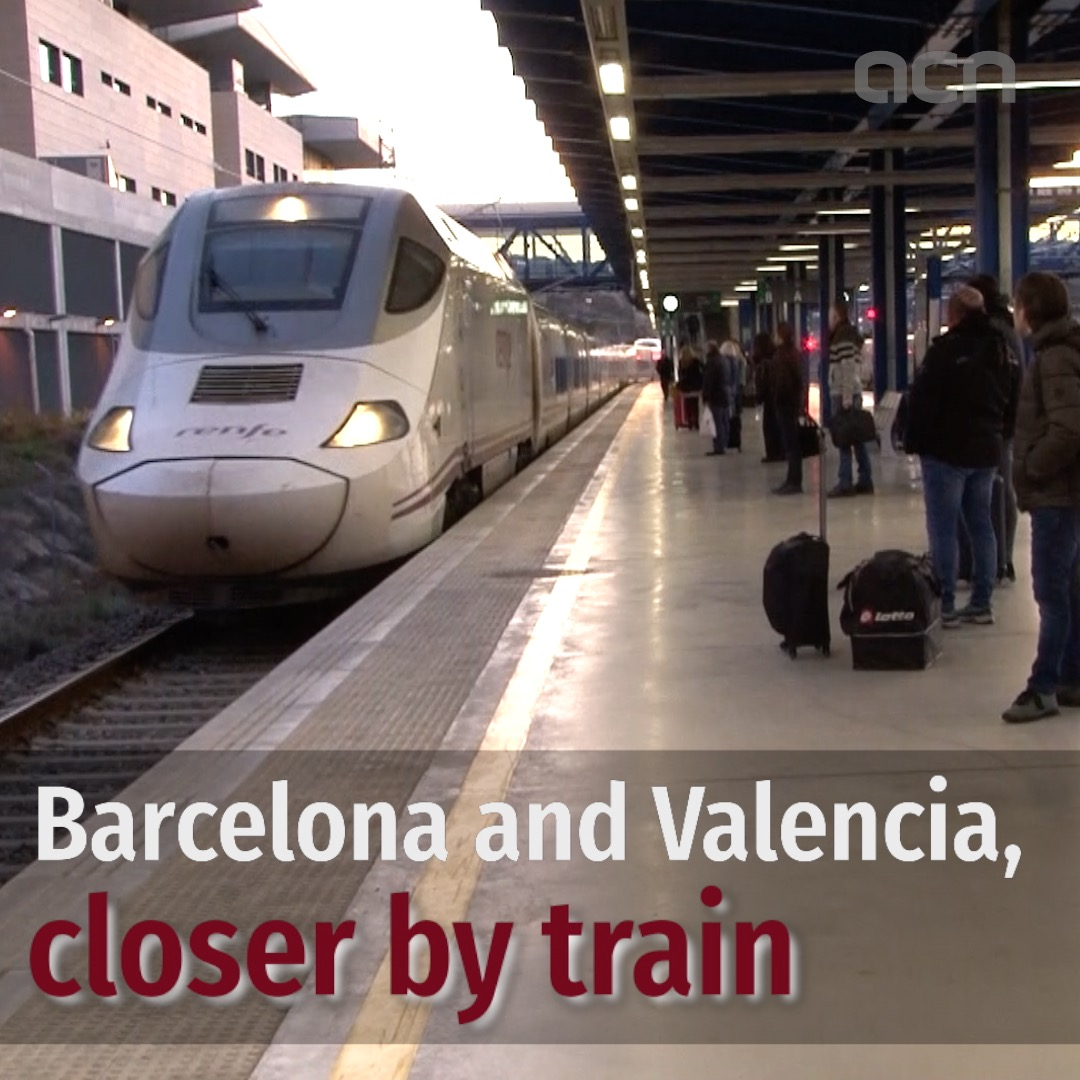 Train journey time between Barcelona and Valencia 40 minutes shorter