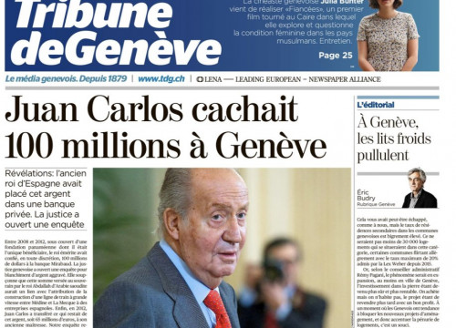 Tribune de Genève front page on March 4, 2020