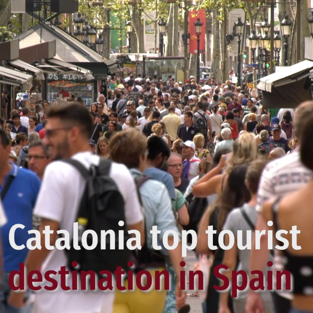 Catalonia top tourist destination in Spain