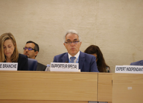 UN Special Rapporteur on the Independence of Judges and Lawyers Diego García-Sayán in Geneva on June 24, 2019 (by Natàlia Segura)