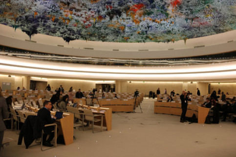 United Nations Human Rights Council in Geneva during Spain's human rights review on January 22, 2020 (by Natàlia Segura)