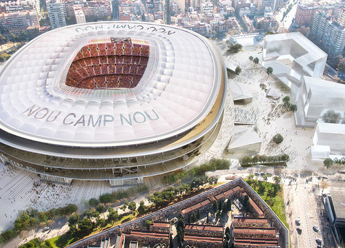Aerial view of the New Camp Nou (by FCB)