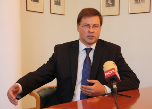 The Prime Minister of Latvia, Valdis Dombrovskis, in the interview with the CNA (by A. Segura)