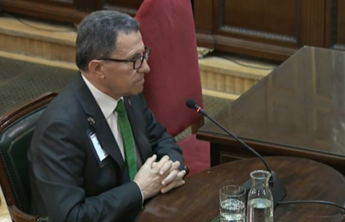 Ángel Gozalo testifies in the Supreme Court on Thursday