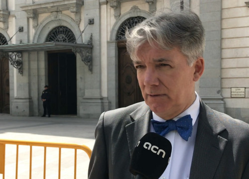 Canadian international observer of the Catalan trial, Daniel Trup