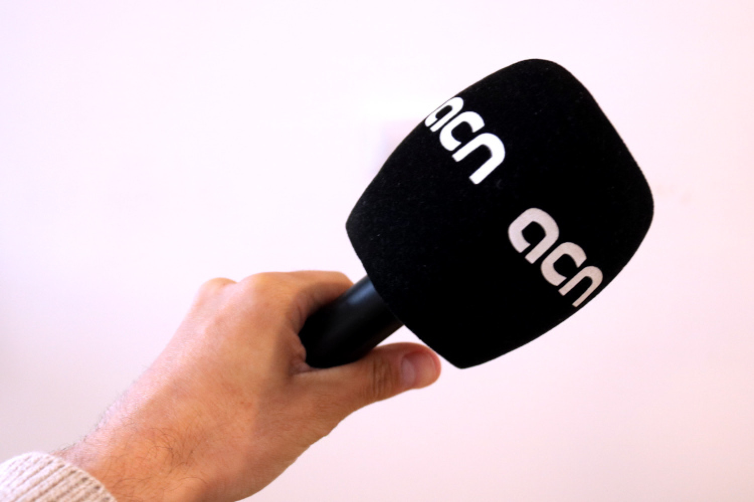A Catalan News microphone (by Guifré Jordan)