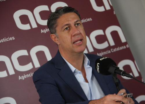 PPC's candidate Xavier García Albiol's press conference at CNA headquarters (by ACN)