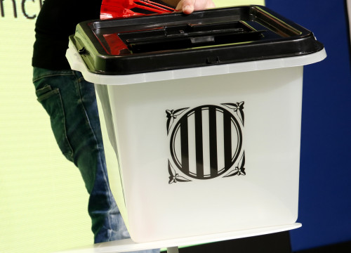 The ballot box of the Catalan independence referendum (by ACN)