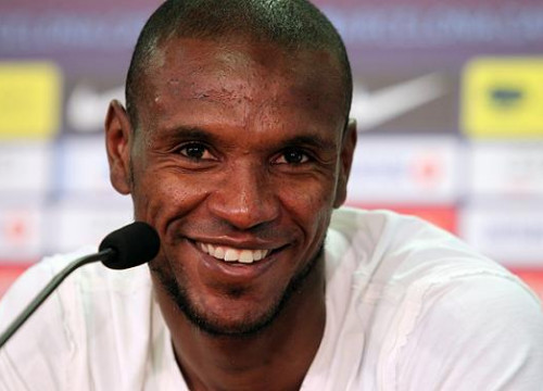Eric Abidal in a press conference given months ago (by FC Barcelona)