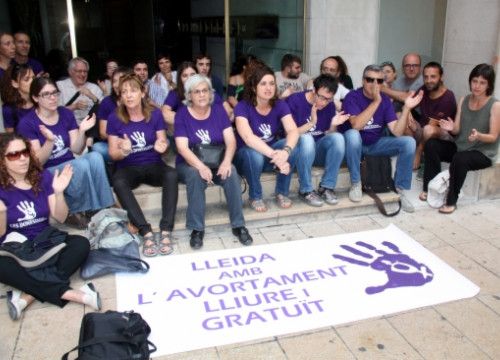 A protest for the Spanish Government's abortion reform in Lleida, last June (by ACN)