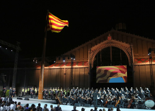 Image of Catalonia's National Day institutional ceremony, which took place at Barcelona's El Born Cultural Centre (by ACN)
