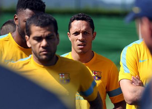 Adriano Correia at a recent training session (by FC Barcelona)