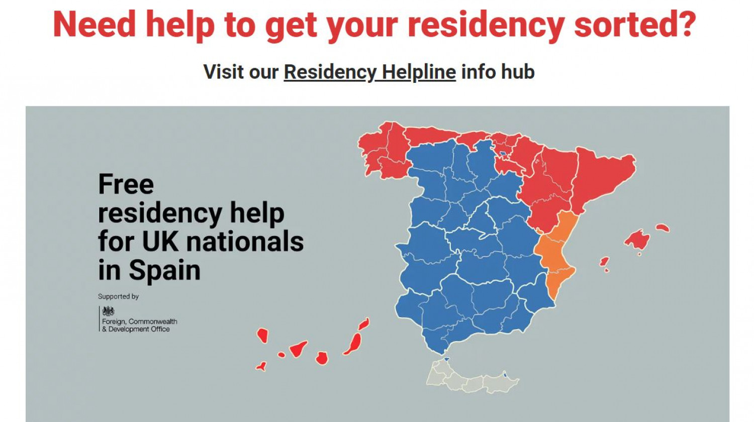 Age in Spain offer free English language guidance for people living on these shores