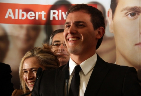 Albert Rivera, Ciudadanos' (C's) leader, celebrates the results that have consolidated his party's representation (By ACN)