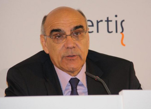 Salvador Alemany, President of Abertis, in a press conference (by J. Molina)