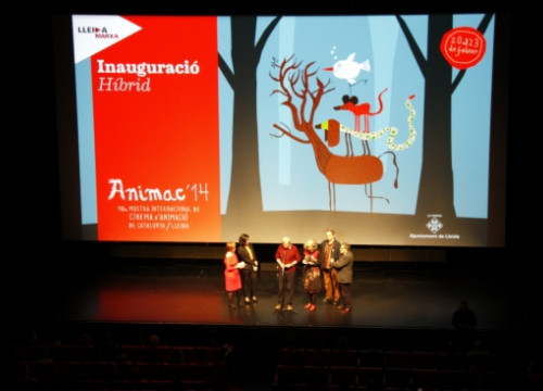 The opening session of the 2014 Animac Festival, in Lleida (by L. Cortés)