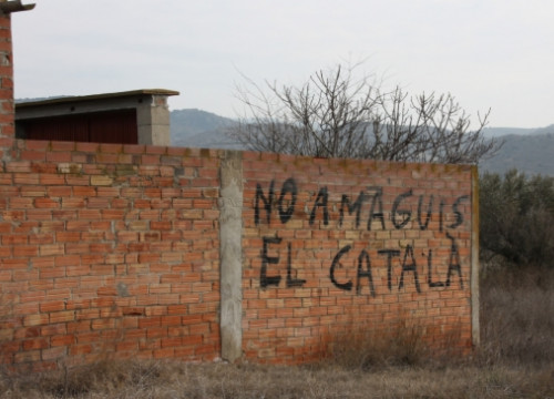 """Do not hide the Catalan [language]"" can be read in eastern Aragon (by ACN)"