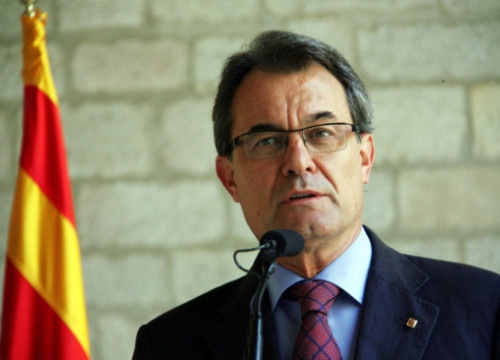 The President of the Catalan Government, Artur Mas, this Thursday (by P. Mateu)