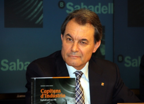 The President of the Catalan Government, Artur Mas, at the book's presentation (by J. R. Torné)