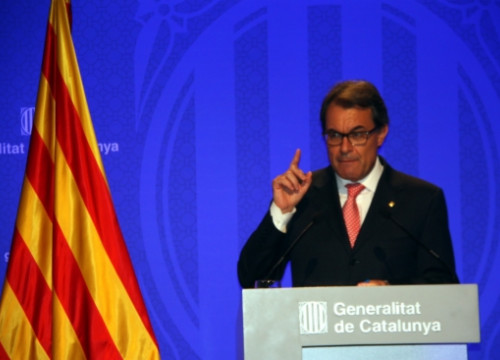 The Catalan President, Artur Mas, in this Tuesday press conference (by L. Roma)