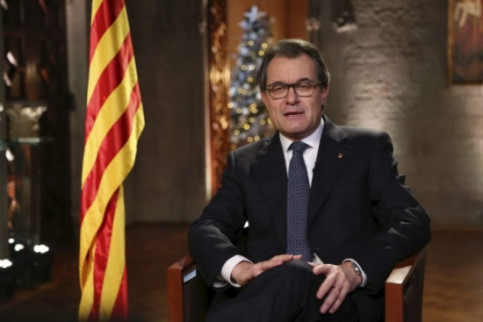 The President of the Catalan Government, Artur Mas, during the New Year speech (by J. Bedmar)