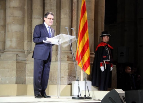 Artur Mas, on Sunday in Lleida (by S. Miret)
