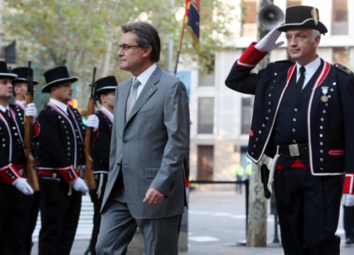 The Catalan President, Artur Mas, at one of Catalonia's National Day ceremonies (by O. Campuzano)