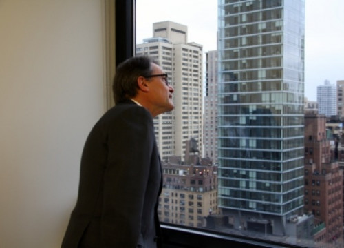 The President of the Catalan Government, Artur Mas, visiting the Executive's Delegation in New York City (by N. Julià)