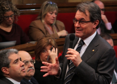 Artur Mas, on Wednesday in the Catalan Parliament (by A. Moldes)