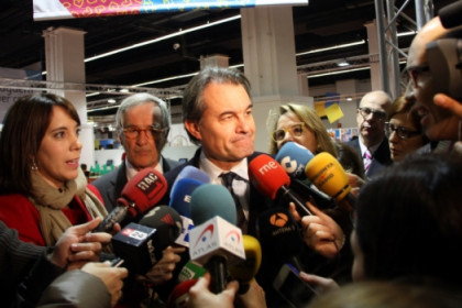 Artur Mas addressing the press this Friday in Barcelona (by M. Belmez)