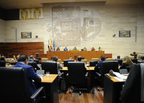 The assembly of Extremadura during its session on January 17, 2019 (by Asamblea de Extremadura)