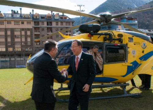 The United Nations Secretary General arriving in Andorra (by Govern d'Andorra / ACN)