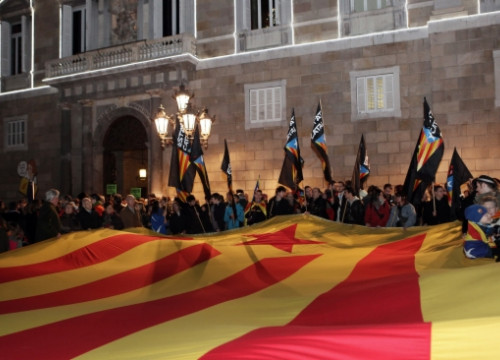 A pro-independence demonstration in Barcelona this last Christmas (by ACN)