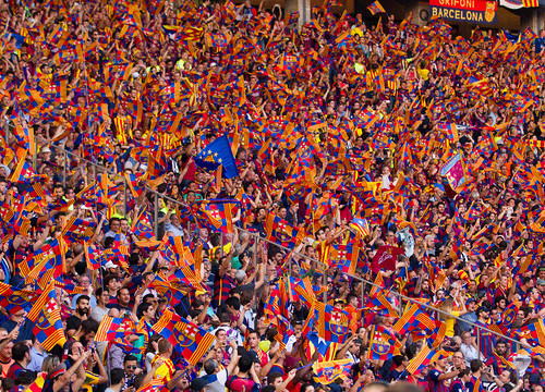 Barça fans in Berlin's Olympic Stadium (by FC Barcelona)