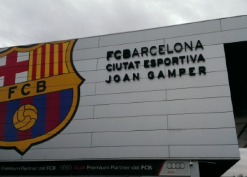 The main entrance to Barça's training facilities (by FC Barcelona)
