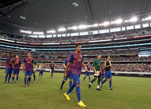 Barça played in an impressive stadium in Dallas, Texas (by FC Barcelona)