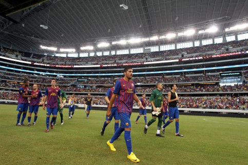More Than 212 694 People Watch Fc Barcelona S Us Tour Live