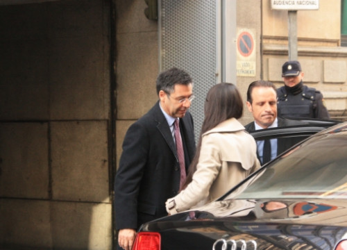 The current FC Barcelona President, Josep Maria Bartomeu, when he testified before the judge in March (by X. Vallbona)