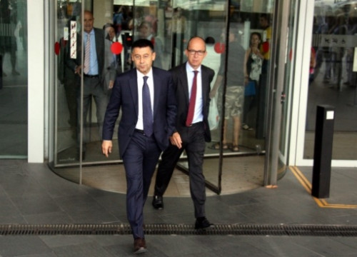 The current FC Barcelona's President, Josep Maria Bartomeu, a few months ago in Barcelona (by p. Solà)