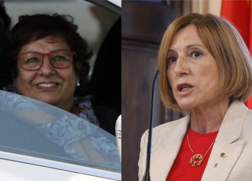 Jailed Catalan leaders Dolors Bassa (left) and Carme Forcadell (Photos by Marina López and Gerard Artigas)