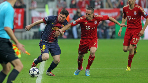 Barça and Bayern Munich will face each other once again in the Champions League's semi-finals, as in 2013 (by FC Barcelona)