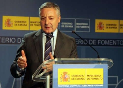 The Spanish Minister for Public Works, José Blanco at Girona (by T. Tàpia)