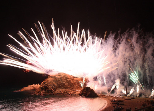 An image of Blanes' international fireworks competition (by ACN)