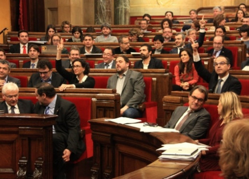 The Catalan Parliament's plenary, which voted for the Transparency Law and rejected amendments to the Catalan Government's budget proposal for 2015 (by A. Moldes)