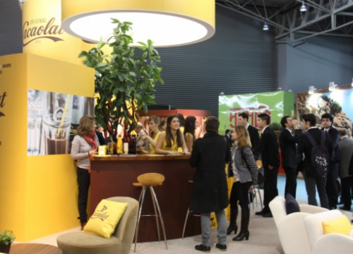 Cacaolat stand in the 2014 Alimentaria (by V. Rescalvo)