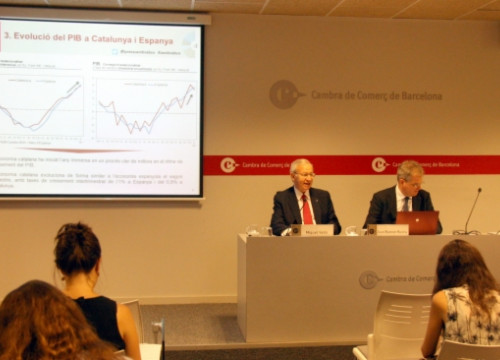 The presentation of the Barcelona's Chamber of Commerce's economic forecast for 2015 and 2016 (by P. Solà)
