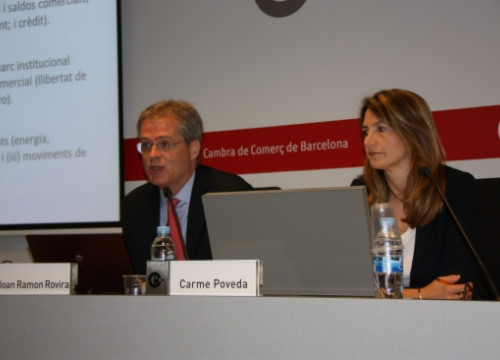 The Barcelona Chamber of Commerce presenting its study (by J. Molina)