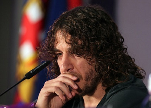 Carles Puyol in his farewell press conference (by FC Barcelona)